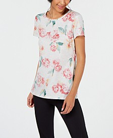 Floral-Print Keyhole-Back Top, Created for Macy's