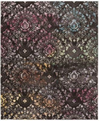 Aria Brown and Multi 4' x 6' Area Rug