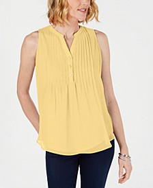 Petite Pintucked Top, Created for Macy's