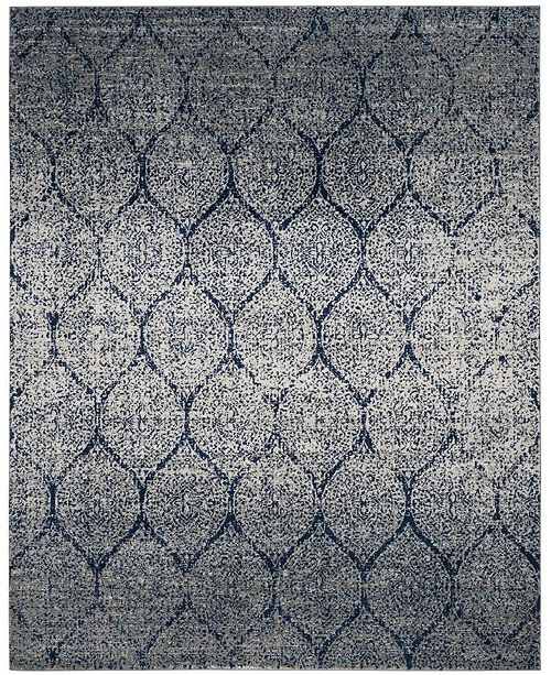 Safavieh Madison Navy and Silver 12' x 18' Area Rug