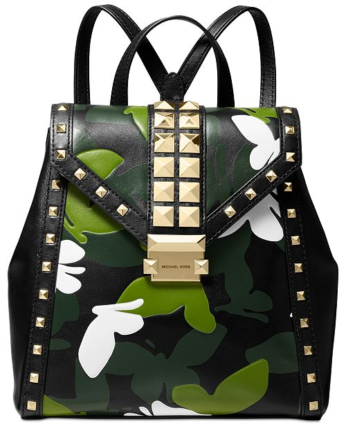 af0095461baf Michael Kors Whitney Camo Butterfly Backpack & Reviews - Handbags ...