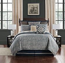 Asher Reversible Queen 4 Piece Comforter Set