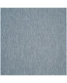 "Safavieh Courtyard Navy and Gray 5'3"" x 5'3"" Sisal Weave Square Area Rug"