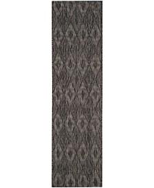 "Safavieh Courtyard Black 2'3"" x 14' Sisal Weave Runner Area Rug"