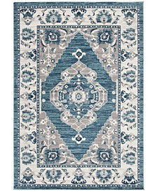 Madison Turquoise and Gray 3' x 5' Area Rug