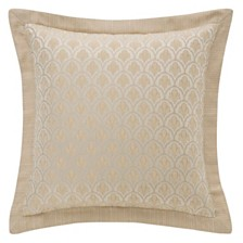 """Waterford Abrielle Champagne 18"""" X 18"""" Square Pillow"""