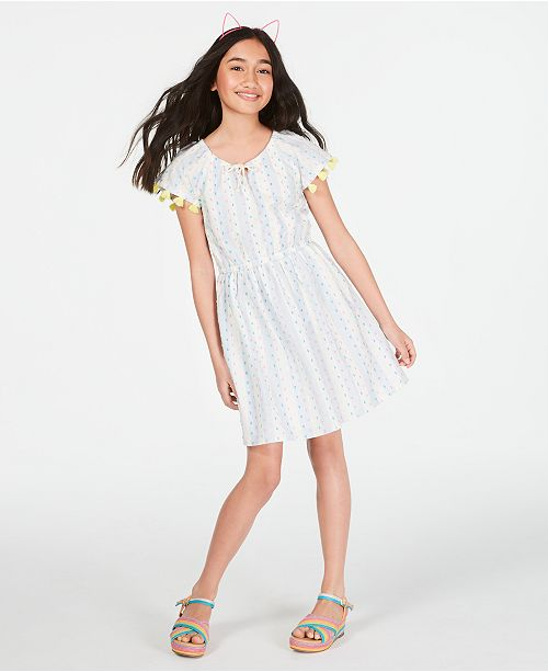 Epic Threads Toddler Girls Cotton Tassel-Trim Peasant Dress, Created for Macy's