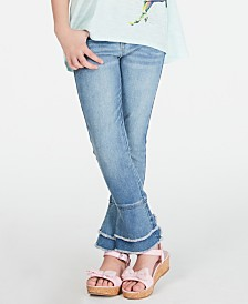 Epic Threads Big Girls Frayed Bell Bottom Jeans, Created for Macy's