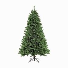 Puleo International 7.5 ft. Unlit Noble Fir Artificial Unlit Christmas Tree