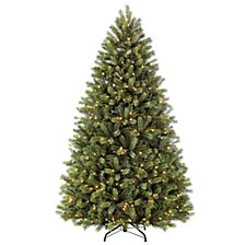 International 7.5 ft Pre-Lit Narrow Oregon Pine Artificial Christmas Tree with 700 UL-Listed Clear Lights