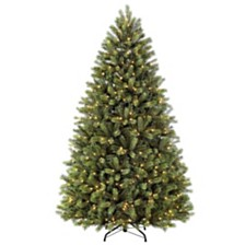Puleo International 7.5 ft Pre-Lit Narrow Oregon Pine Artificial Christmas Tree with 700 UL-Listed Clear Lights