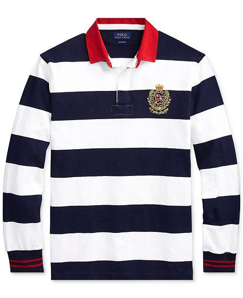 9966db0ed Polo Ralph Lauren Men s Big   Tall Classic-Fit Striped Rugby Shirt ...