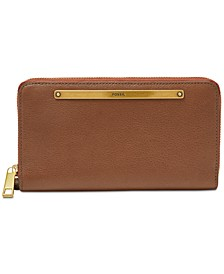 Women's Liza Leather Zip Around Wallet Wristlet