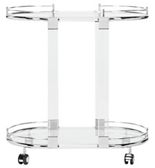 Lennon Acrylic Bar Trolley, Quick Ship