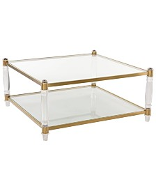 Isabelle Acrylic Coffee Table, Quick Ship
