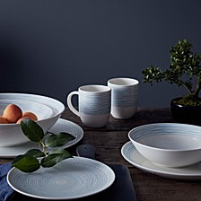 Crafted by Royal Doulton Polar Blue Dots Dinnerware Collection