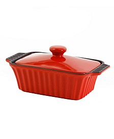 "Denhoff 8.5"" Non-Stick Ribbed Casserole with Lid"