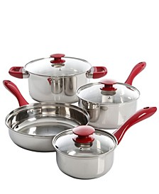 Sunbeam Crawford 7 Piece Cookware Set with Mirror Polished Bakelite Handle