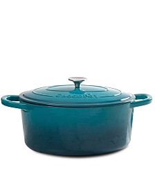 Crock Pot Artisan 7 Quart Enameled Cast Iron Oval Dutch Oven