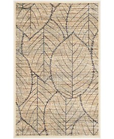 "Martha Stewart Collection Cream and Multi 2'7"" x 4' Area Rug, Created for Macy's"