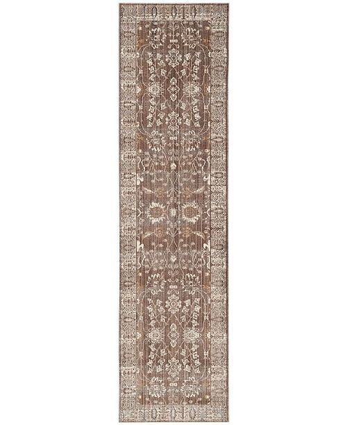 """Safavieh Valencia Brown and Beige 2'3"""" x 8' Runner Area Rug"""