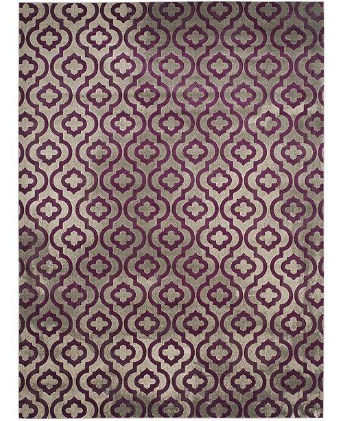 Safavieh Porcello Light Gray and Purple 9' x 12' Area Rug