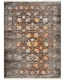 Vintage Persian Brown and Multi 4' x 6' Area Rug