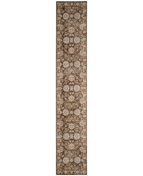 "Safavieh Vintage Persian Brown and Multi 2'2"" x 12' Runner Area Rug"