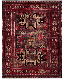 Vintage Hamadan Red and Multi 8' x 10' Area Rug