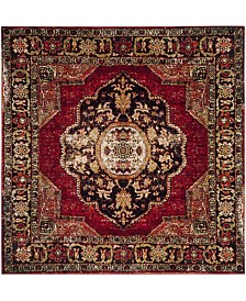 "Safavieh Vintage Hamadan Red and Multi 6'7"" x 6'7"" Square Area Rug"