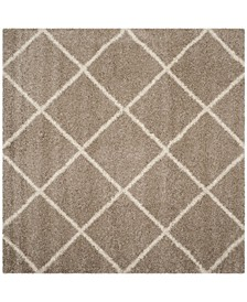 Hudson Beige and Ivory 7' x 7' Square Area Rug