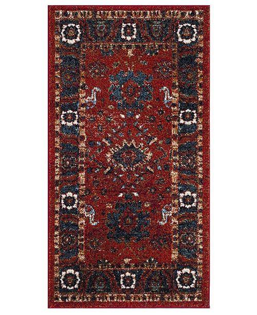 """Safavieh Vintage Hamadan Orange and Blue 2'7"""" x 5' Area Rug"""