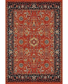 Safavieh Vintage Hamadan Orange and Navy 4' x 6' Area Rug