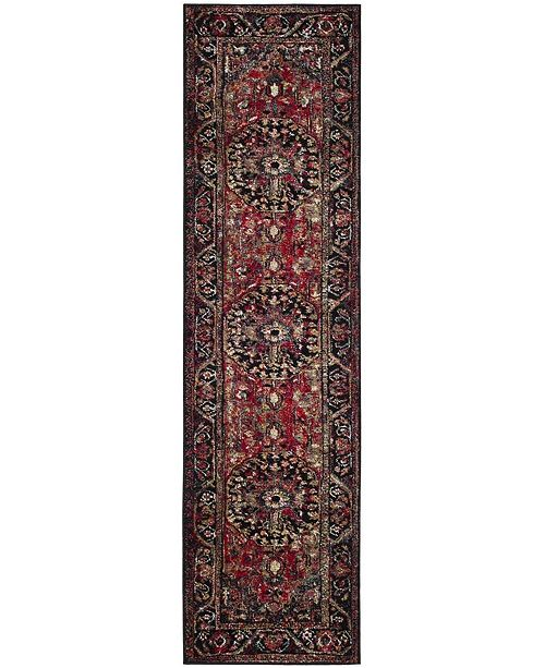 "Safavieh Vintage Hamadan Red and Multi 2'2"" x 12' Runner Area Rug"