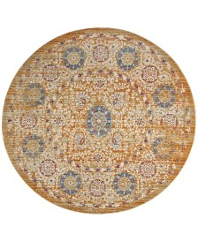 Safavieh Sutton Gold and Ivory 6' x 6' Round Area Rug