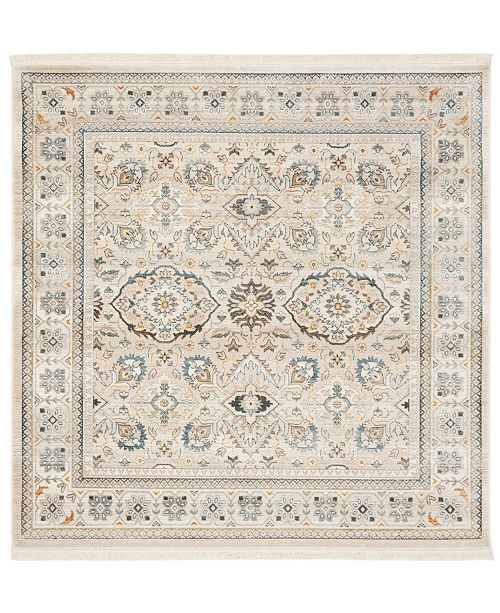 Safavieh Vintage Persian Ivory and Light Gray 5' x 5' Square Area Rug