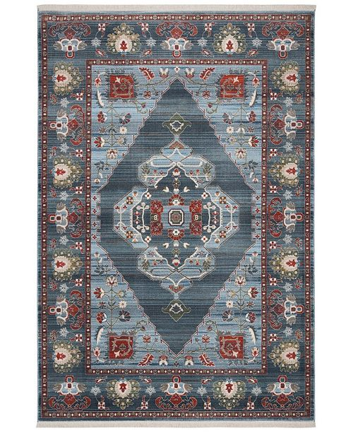 Safavieh Vintage Persian Blue and Light Blue 3' x 5' Area Rug