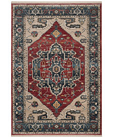 """Safavieh Vintage Persian Red and Blue 5' x 7'6"""" Area Rug"""