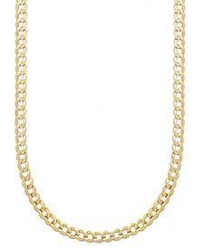 "Curb Chain 22"" Necklace (5-3/4mm) in Solid 14k Gold"