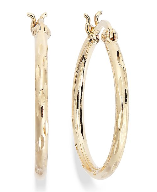 f0ff8d1d6 ... Giani Bernini Small Diamond-Cut Hoop Earrings in 18k Gold over Sterling  Silver, 1 ...