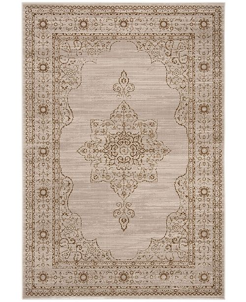 "Safavieh Serenity Creme and Gold 5'1"" x 7'6"" Area Rug"