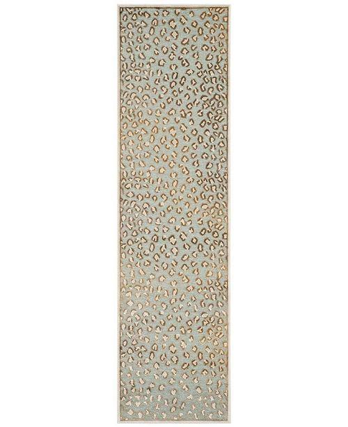 "Safavieh Paradise Stone and Aqua 2'2"" x 8' Runner Area Rug"
