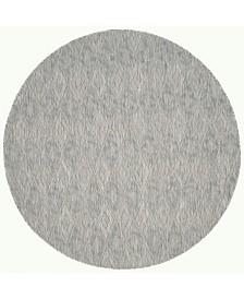 "Safavieh Courtyard Gray 6'7"" x 6'7"" Sisal Weave Round Area Rug"