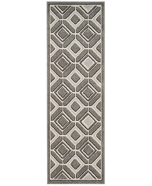 "Safavieh Amherst Grey and Light Grey 2'3"" x 7' Runner Area Rug"