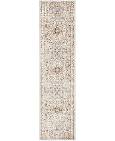 "Illusion Lilac and Light Grey 2'3"" x 8' Runner Area Rug"