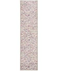 Skyler Ivory and Pink 2' x 8' Runner Area Rug