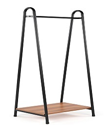 Lucky Theory Garment Rack with Bottom Storage Shelf