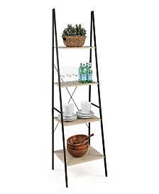 "Good Jupiter 4 Tier 71"" Tall Ladder Style Storage Unit / Bookcase"