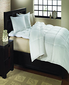 St. James Home Year Round Dobby White Goose Down Comforter Full/Queen
