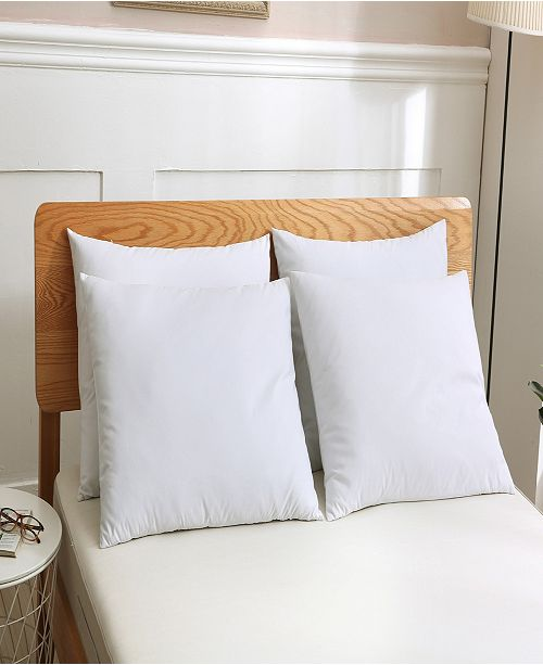 St. James Home 4 pack Soft Cover Nano Feather Filled Bed Pillows Jumbo